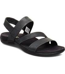district kanoya strap black shoes summer shoes flat sandals svart merrell