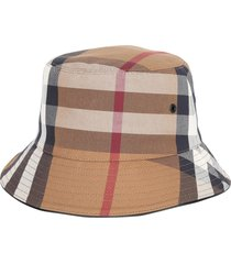 burberry checked bucket hat