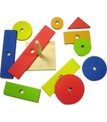 formas geométricas kits e gifts árvore madeira amarelo
