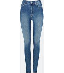 high waist curve jeans - blå