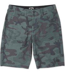 billabong men's crossfire stretch micro repel textured hybrid shorts