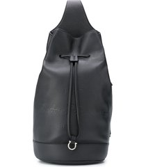 salvatore ferragamo single-strap leather backpack - black