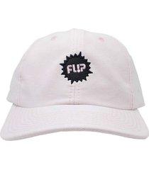 boné flip skateboards dad hat aba curva splash logo rosa - kanui