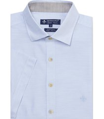 camisa dudalina manga curta fio tinto ii listrada masculina (listrado 2, 6)