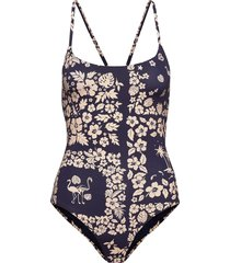 printed bathing suit baddräkt badkläder blå scotch & soda