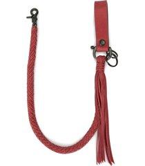 discord yohji yamamoto braided calf-leather strap - red