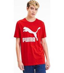 classics t-shirt met logo voor heren, rood, maat xs | puma