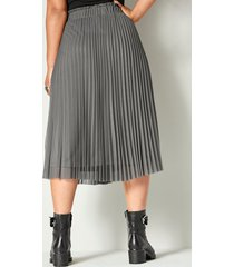 plisserad kjol angel of style mörkgrå