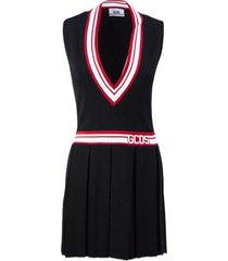 gcds black short tennis dress