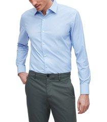 men's bonobos slim fit dot button-up performance shirt, size xx-large r - blue