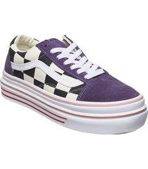ua super comfycush old skool låga sneakers lila vans
