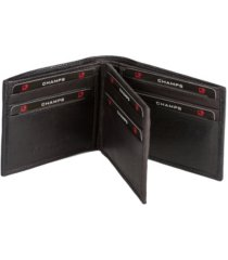 champs genuine leather rfid blocking center wallet