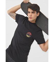 camiseta vans sano preta