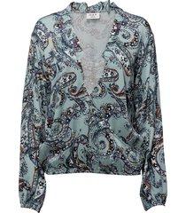day neela paisley blouse lange mouwen blauw day birger et mikkelsen