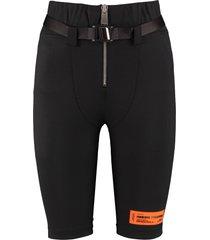 heron preston belted cycling shorts