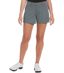 pga tour women's grid-print golf shorts