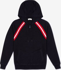 cotton knit lounge hoodie blue 58