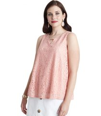blusa con accesorio en escote lorenzo di pontti