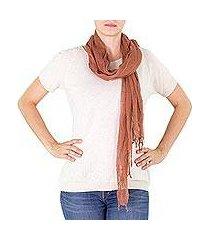 cotton scarf, 'mahogany moods' (guatemala)