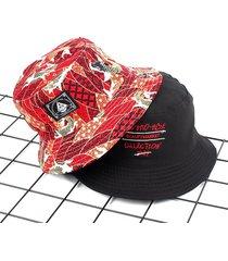 cappello pieghevole da donna in cotone traspirante bifacciale per esterno