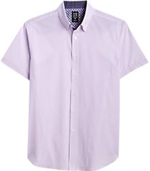 con. struct pink & blue dot slim fit short sleeve sport shirt