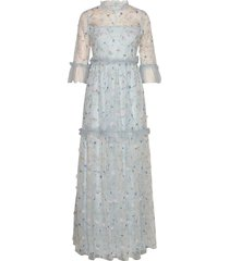 alva dress maxi dress galajurk blauw by malina