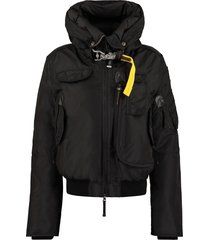 parajumpers gobi hooded bomber-style down jacket