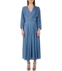 valentino fluid jersey long dress with grifoni