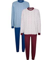 pyjama roger kent bordeaux::lichtblauw