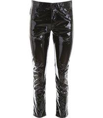 n.21 vinyl trousers