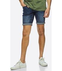 denim stretch shorts - ljusblå