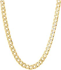 basic gold-plated sterling silver curb chain necklace/22""