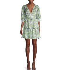 freida puff-sleeve mini dress