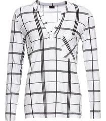 maglia a quadri con maniche lunghe (bianco) - bodyflirt