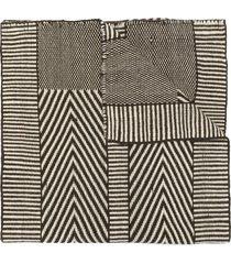 voz chevron knit shawl - brown