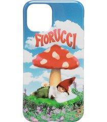 fiorucci mushroom print iphone 11 pro case - blue