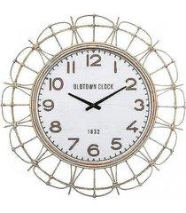 zegar ścienny z rattanu 73 cm