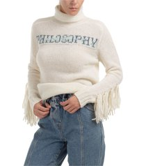 philosophy di lorenzo serafini double question mark roll neck jumper