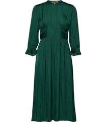 midi length dress with fitted waist knälång klänning grön scotch & soda