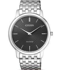 reloj eco-slim plateado citizen