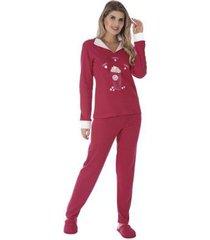 pijama de inverno charme victory feminino