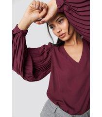 trendyol pleated detailed blouse - purple