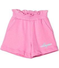 msgm pink cotton shorts
