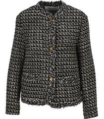 valentino embroidered sensation lurex tweed jacket