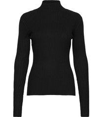 ebo knit top 20-04 turtleneck polotröja svart holzweiler