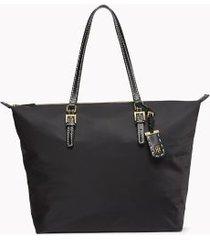 tommy hilfiger women's classic zipper tote black -