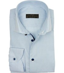john miller shirt mouw 7 tailored fit blauw streep