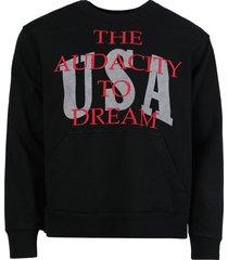dreamers crewneck sweatshirt, black