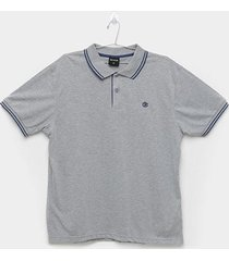 camisa polo delkor plus size masculina