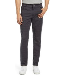 brax cooper plaid stretch cotton five-pocket pants, size 33 x 32 in street at nordstrom